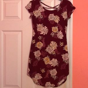 size small no boundaries tight fitting dress